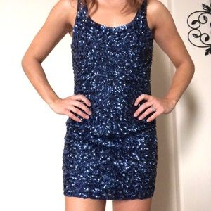 Trendy Blue Sequin Dress ✨